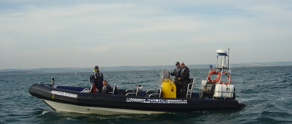 Tornado Rib Hire to Dorset Police during 2012 Olympics