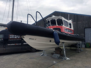 10.5M Cabin Rib used for safety patrol on water